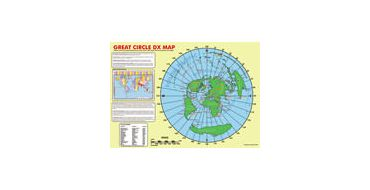 A2 Size GRTW-MAP Great Circle DX Wall Map