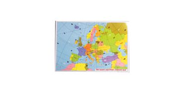 A4 Size European Locator Map Desk