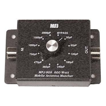 MFJ-909 MOBILE IMP.MATCHER, CAPACITOR TYPE, 10-80M, 600W