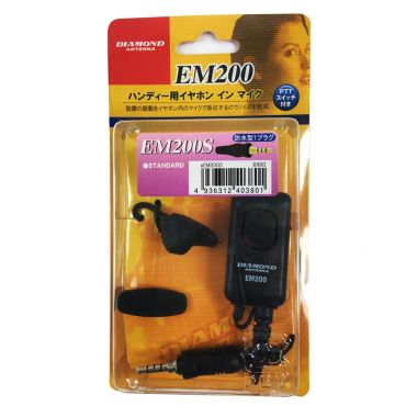 DIAMOND EM-200S Eartalker for Yaesu Single Pin Screw Connector