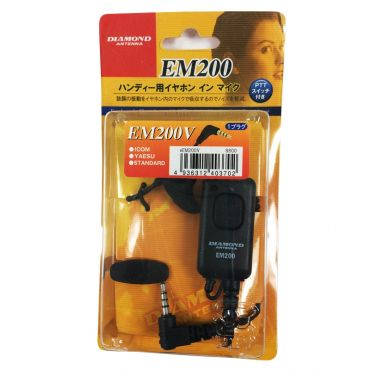 DIAMOND EM-200V Eartalker for Yaesu Single Pin Non-threaded Connector