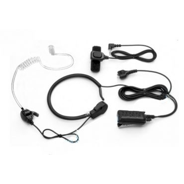 DIAMOND EM-100M Throat Mic. with Acoustic Tube Earpiece for Yaesu / Icom 2-Pin Connector
