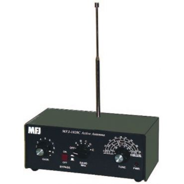 MFJ-1020C ANTENNA, SHORTWAVE LISTENING INDOOR ACTIVE ANTENNA