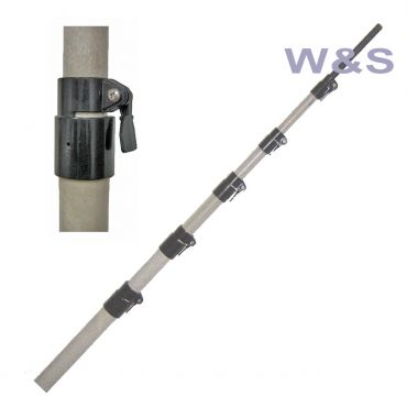 MFJ-1904HD FIBERGLASS POLE,25FT,7 4FT SEC,1~-2-1/2~,W/Q.CLAMP
