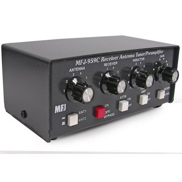 MFJ-959C ANTENNA TUNER, SWL, WITH PREAMP