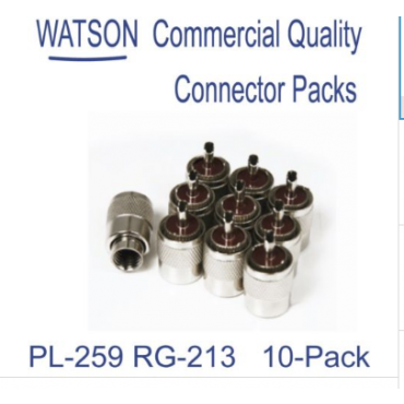 PL-259 Plugs for RG-213 Cable