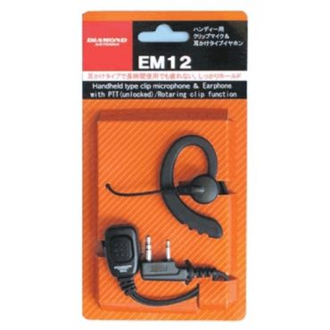 DIAMOND EM-12M Headset for ICOM YAESU ALINCO 2-Pin Connector