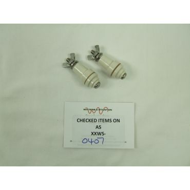 Pair of ceramic binding post connectors - NEW OLD STOCK