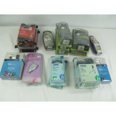 Assorted Audio/Video Leads - New